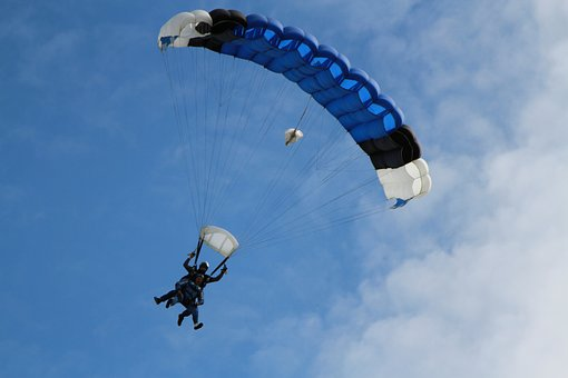 Adventure, Freedom, Fun, Jumping, Parachute, Risky