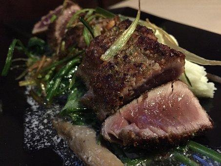 Tuna, Seared, Fish, Food, Gourmet, Plate, Seafood, Dish