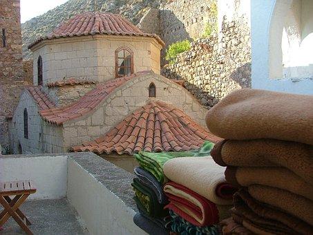 Greece, Monastery, Chalki, Bedding, Hot, Island