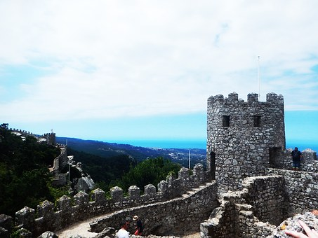 Castle, View, Air, Architecture, Moors, Holiday, Sintra