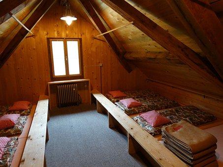 Mattress Camp, Mountain Hut, Mass Storage, Stay, Stock