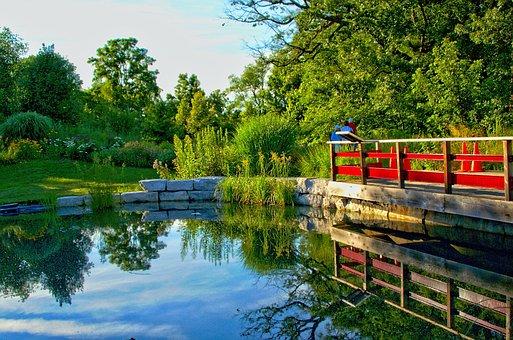 Bridge, Nature, Lake, Summer, Hdr, Boats, Water