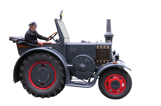 Tractor, Bulldog, Lanz, Oldtimer, Png, Isolated