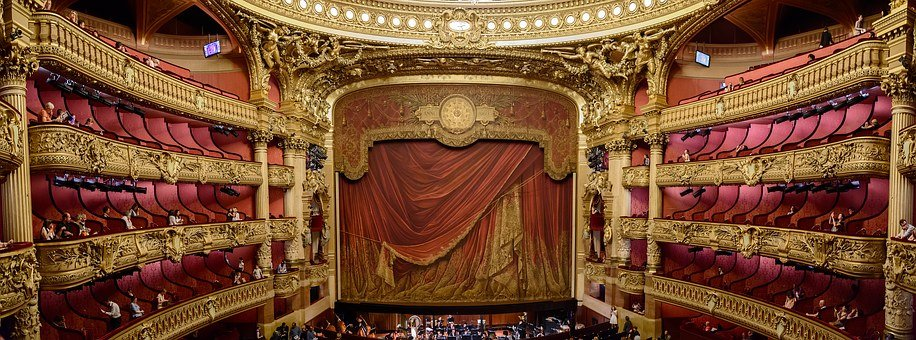 Stage, Curtain, Theatre, Theater, Opera, Stage Curtain