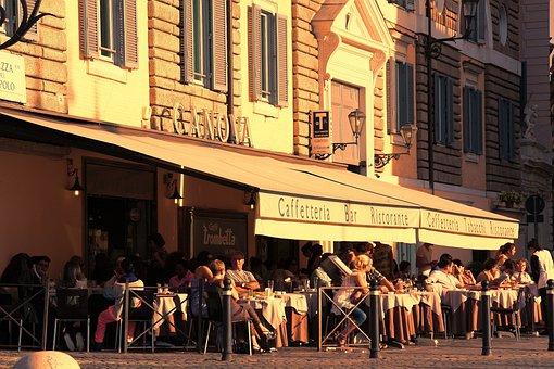 Bar, Customers, Outdoors, People, Restaurant, Street