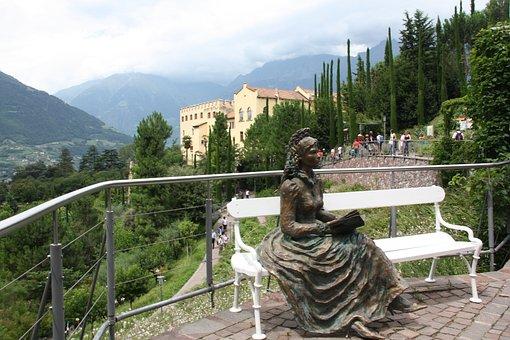 Sissi, Castle, Park, South Tyrol, Schlossgarten