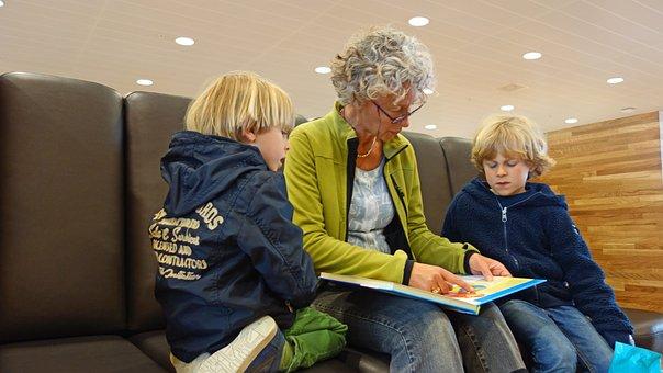 For Reading, Read, Book, Grandchild, Granny
