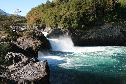 Petroleum Jumps, River, Jumps, Nature, Puerto Varas
