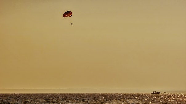 Afternoon, Sea, Colours, Seascape, Golden, Water Sports