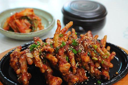 Seasoned Chicken Feet, Chicken Feet, Spicy