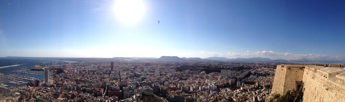 Alicante, Sunshine, Castle, Panorama, Spain, Blanca