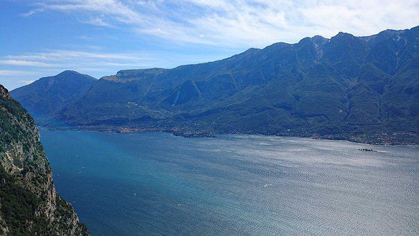Garda, Lagodigarda, Mountains, Summer, Italy, Castle