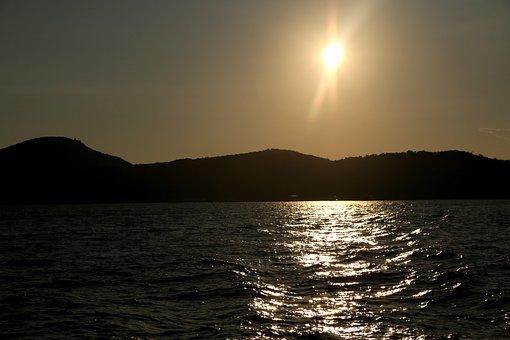 Sun, Golden Sun, Beach, Sea, Sunset, Resort