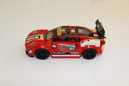 Lego, Car, Toy, Ferrari