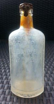 Old Bottle, Old, Bottle, London Dry Gin, Vintage, Glass