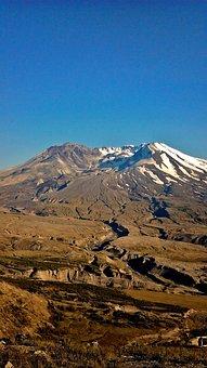 Mount St Helens, Mountain, Volcano, Snow, Active