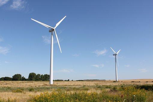 Windräder, Energy, Pinwheel, Wind Power Plant