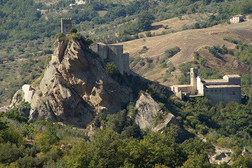 Castle, Burgruine, Roccascalegna, Abruzzo, Landscape