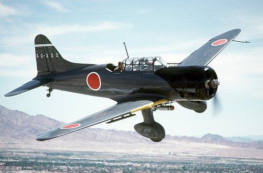 Aircraft, World War Ii, Aichi, D3a, Flying
