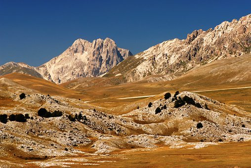 Mountain, Scenery, Landscape, Italy, Appennines