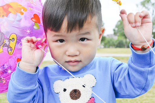 Child, Outdoor, Balloon, Nanjing, Arphic, Grassland