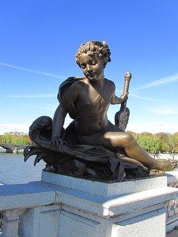 Pont Alexandre Iii, Paris, Bridge, Angel