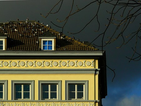 House, Building, Window, Facade, Architecture, Clouds