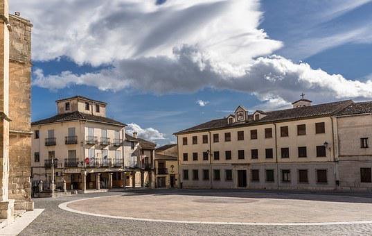 Plaza, People, Church, Torrelaguna, Villa, Rural