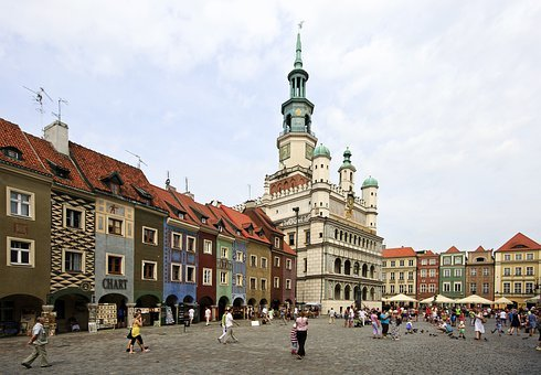 Poznan, Poland, City, Buildings, Street, Church