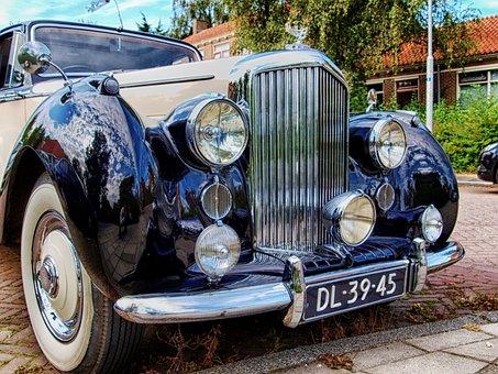 Bentley Mk, Grill, Close-up, Car, Auto, Automobile