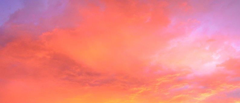 Sky, Red, Orange, Purple, Clouds, Sunset, Blue, Autumn