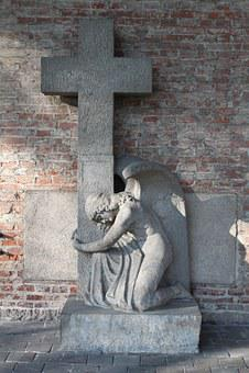 Pray, Angel, Forgiveness, Cross, Religion, Christianity