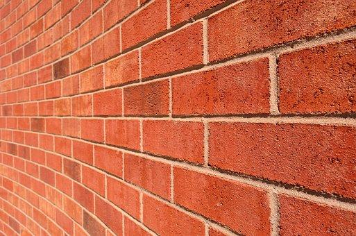 Curved Wall, Brick Wall, Brick, Wall, House, Texture