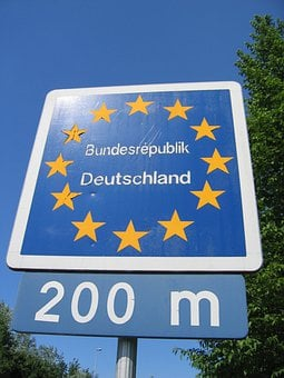 Europe, Border, Germany, Shield, State, State Border