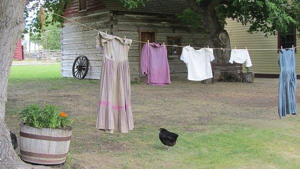 Clothesline, Wash, Farm, To Wash Clothes, Laundry