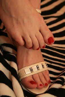 Feet, Nails, Toe Nails, Fingernails, Lacquered