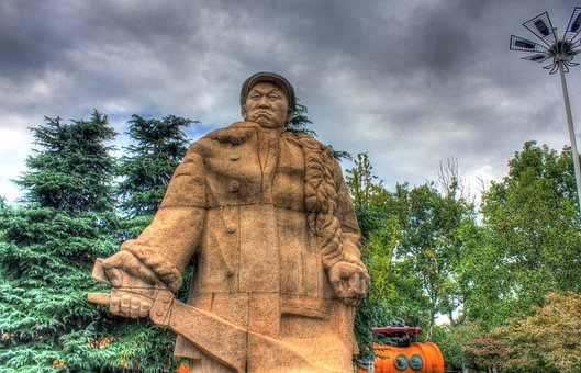 Jiangsu, China, Nanjing, Statue, Hero, Monument