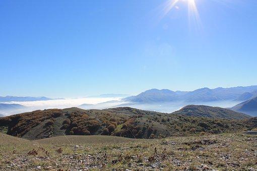 Mountain, Hill, Landscape, Sky, Autumn, Abruzzo