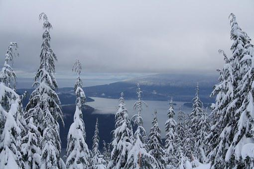 Howe, Sound, Vancouver, Snow, Mountain