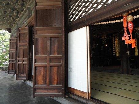 Kyoto, Japan, Temple, Buildings, Doors, Doorway