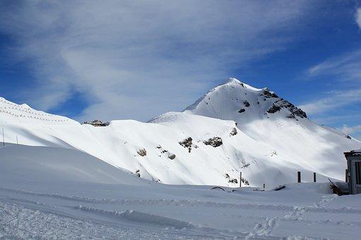 Canazei, Ski, Panoramic, Mountains, Italy, Snow