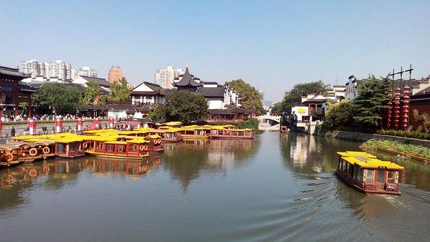 Nanjing, Confucius Temple, Qinhuai River