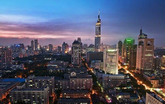 Urban Landscape, Nanjing, Purple Peak Tower