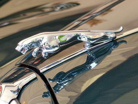 Oldtimer, Jaguar, Cool Figure, Silver, Automobile