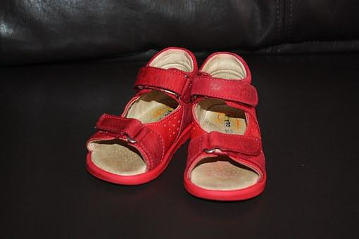 Sandals, Shoes, Baby Shoes, Red