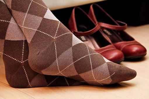 Socks, Feet, Red Shoes