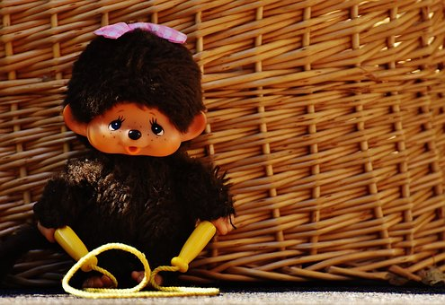 Monchhichi, Cute, Funny, Old, Toys, Soft Toy