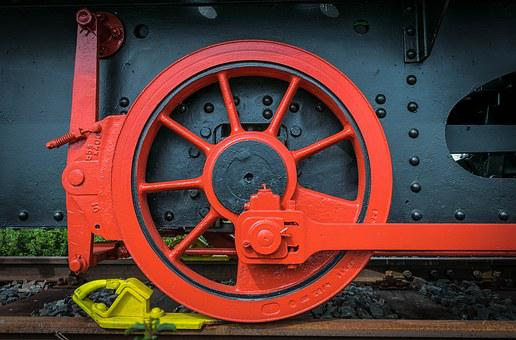 Wheel, Steam Locomotive, Railway, Locomotive, Loco, Red