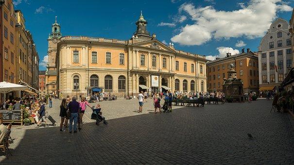 Stockholm, Sweden, Church, Old Town, Building