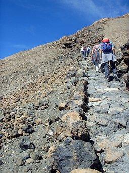 Rise, Summit, Hike, Steep, Pico Del Teide, Tenerife